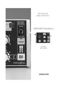 manuel de réparation Weinmann MEDUMAT Standard a WM 22800
