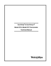 Обслуживание и Руководство пользователя Welchallyn SureTemp® Model 670