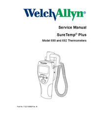 Service Manual Welchallyn SureTemp® Plus 690