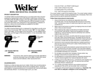 Manual del usuario Weller D650