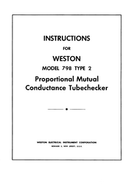 Manual del usuario Weston 798 Type 2