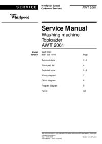 Serviceanleitung Whirlpool AWT 2061