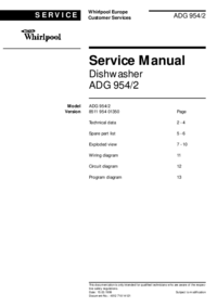 Service Manual Whirlpool ADG 954/2