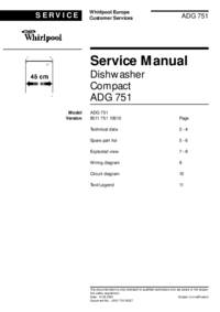 Manual de serviço Whirlpool ADG 751