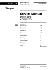 Service Manual Whirlpool ADP262WH