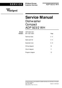 Servicehandboek Whirlpool ADP 923/2 WH