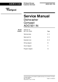 Manual de servicio Whirlpool ADG 931 IN