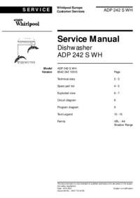 Руководство по техническому обслуживанию Whirlpool ADP 242 S WH