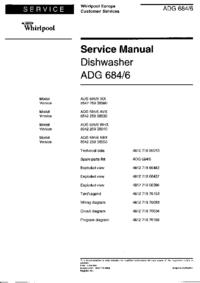 Manuale di servizio Whirlpool ADG 684/6