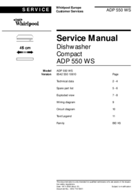 Service Manual Whirlpool ADP 550 WS