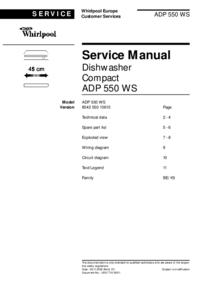 manuel de réparation Whirlpool ADP 550 WS
