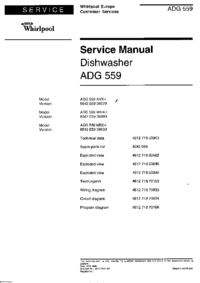 Manual de servicio Whirlpool ADG 559