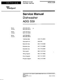 Servicehandboek Whirlpool ADG 559