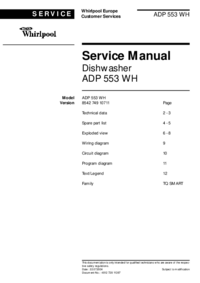manuel de réparation Whirlpool ADP 553 WH