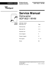 Serviceanleitung Whirlpool ADP 952/1 WHM