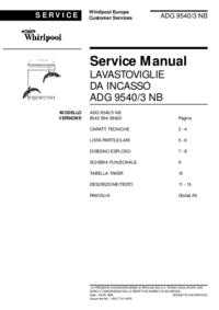Instrukcja serwisowa Whirlpool ADG 9540/3 NB