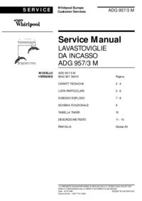Serviceanleitung Whirlpool ADG 957/3 M