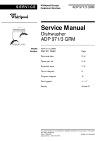Service Manual Whirlpool ADP 971/3 GRM