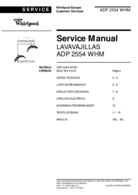 Manual de servicio Whirlpool ADP 2554 WHM