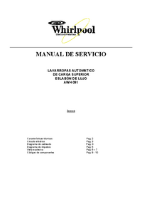 Service Manual Whirlpool AWH 091