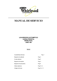 Service Manual Whirlpool AWG108