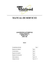 Manual de serviço Whirlpool AWG108
