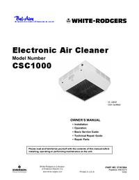 Manual do Usuário WhiteRodgers CSC1000