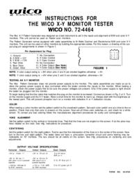 Bedienungsanleitung Wico NO. 72-4464