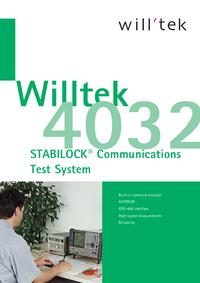 Scheda tecnica Willtek 4032