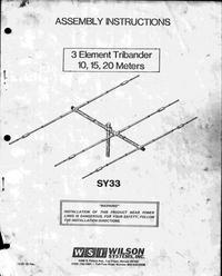 User Manual Wilson SY33