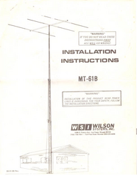 Manual de servicio Wilson MT-61B