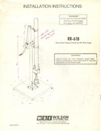 Manuale d'uso Wilson RB-61B