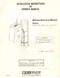 Руководство пользователя Wilson EW-61