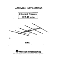 User Manual Wilson SY-1