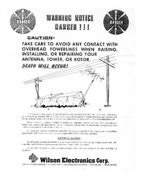 Bedienungsanleitung Wilson WV-1