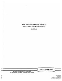 Gebruikershandleiding Wiltron 63 Series