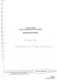 Manuale di servizio Wiltron 6769A