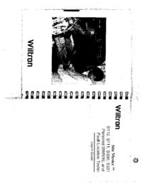 Manuale d'uso Wiltron S110