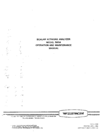 Service and User Manual Wiltron 560A