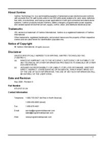 Manual do Usuário Xantrex XDL 56-4P