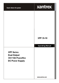 Bedienungsanleitung Xantrex XPF 35-10