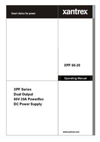 Gebruikershandleiding Xantrex XPF 60-20
