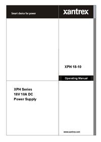 Manual del usuario Xantrex XPH 18-10
