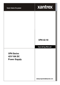 User Manual Xantrex XPH 42-10