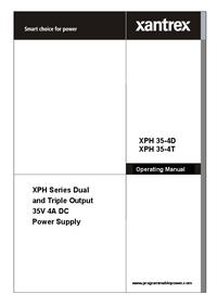 Bedienungsanleitung Xantrex XPH 35-4D
