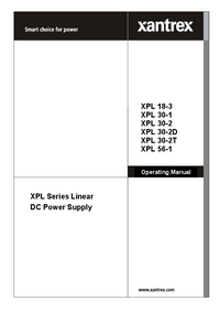 Instrukcja obsługi Xantrex XPL 30-1