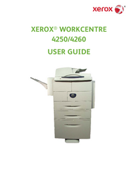 User Manual Xerox WorkCentre 4260 X