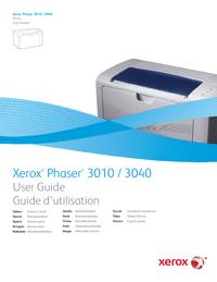 Manual do Usuário Xerox Phaser 3040