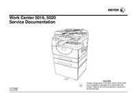 Manual de serviço Xerox Work Center 5016