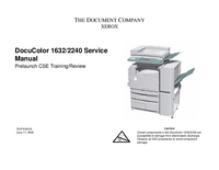 Service Manual Xerox DocuColor 1632
